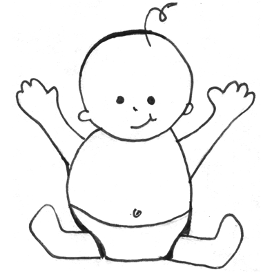 Baby Clipart Easy.