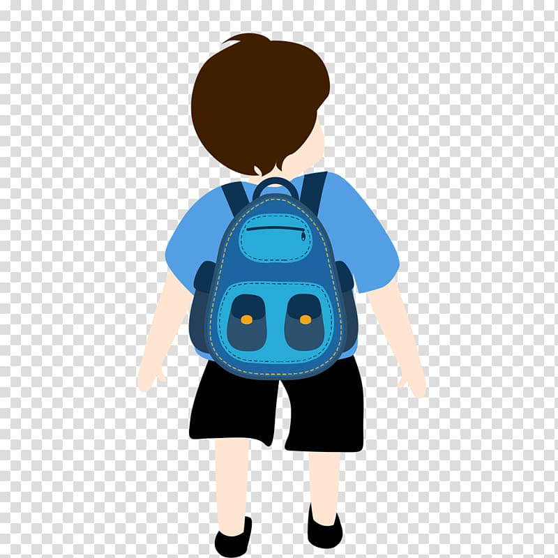 Drawing Animation Backpack Illustration, Backpack boy.