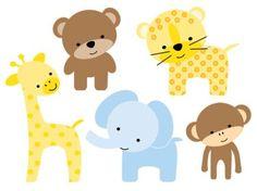 Cute Baby Giraffe Cartoon.