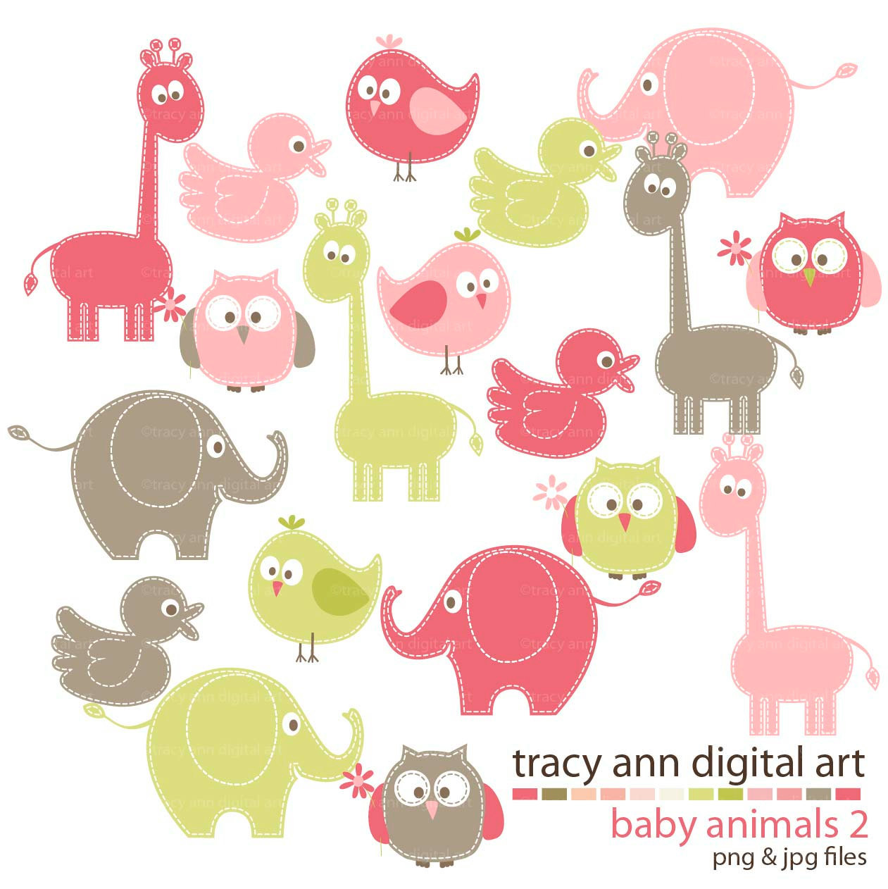 Free Baby Animal Clipart.