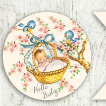 Free Vintage Baby Clip Art.