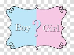 Gender Reveal transparent background PNG cliparts free.