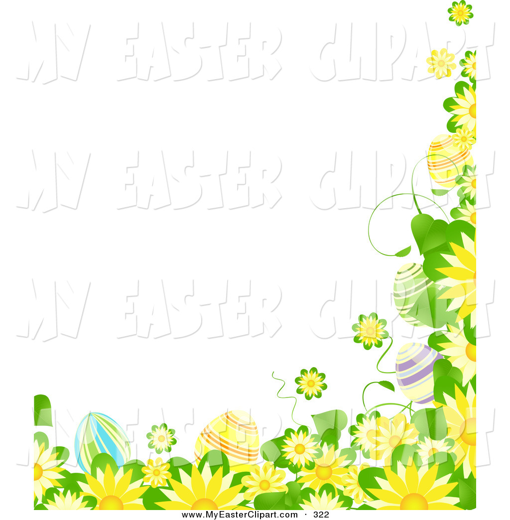 Yellow And Green Flowers Clipart.