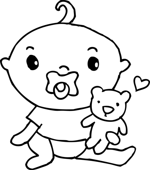 Best Baby Clipart Black and White #28204.