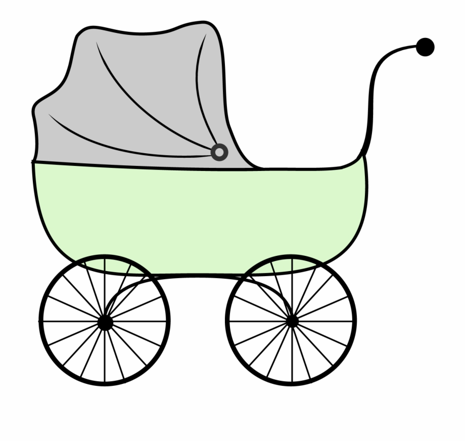 Baby Carriage Baby Shower Clipart Stroller.