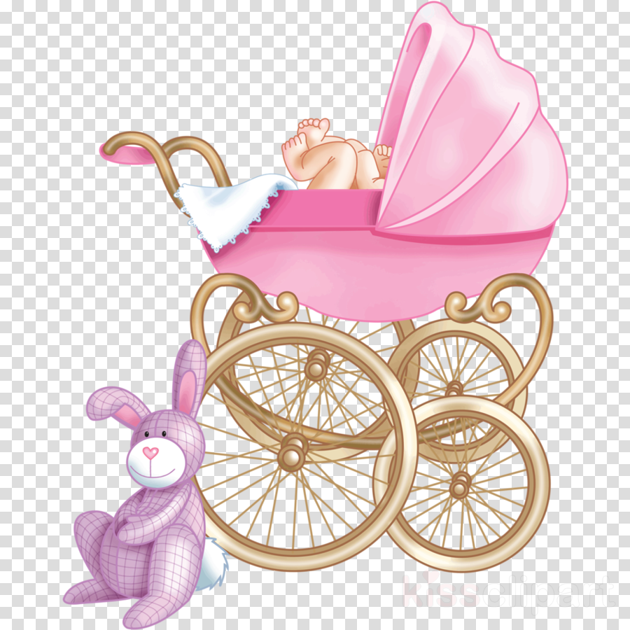 carriage baby carriage pink clip art baby products clipart.