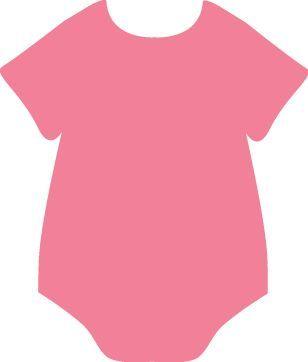 Baby Pink Onesie Clip Art.