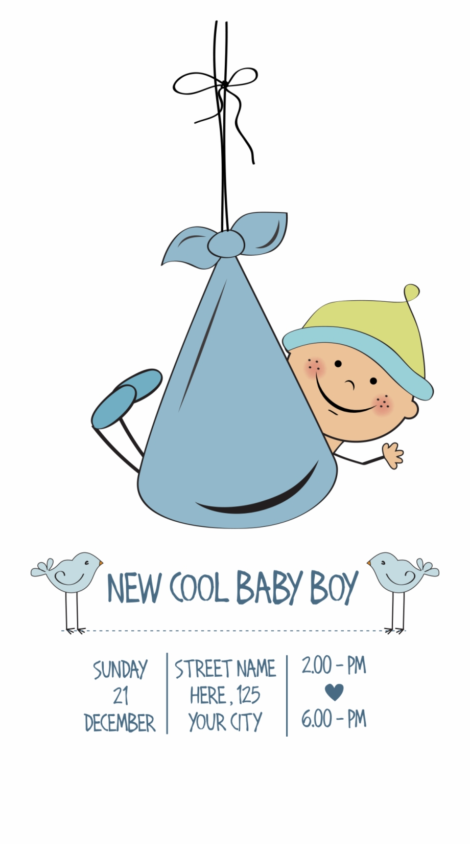 Cute Infant Shower Cuteness Vector Baby Clipart.