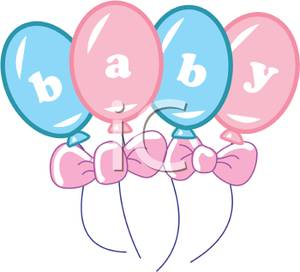 Pink And Blue Balloons Clipart.