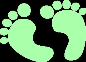 Baby Feet Baby Green Clip Art at Clker.com.