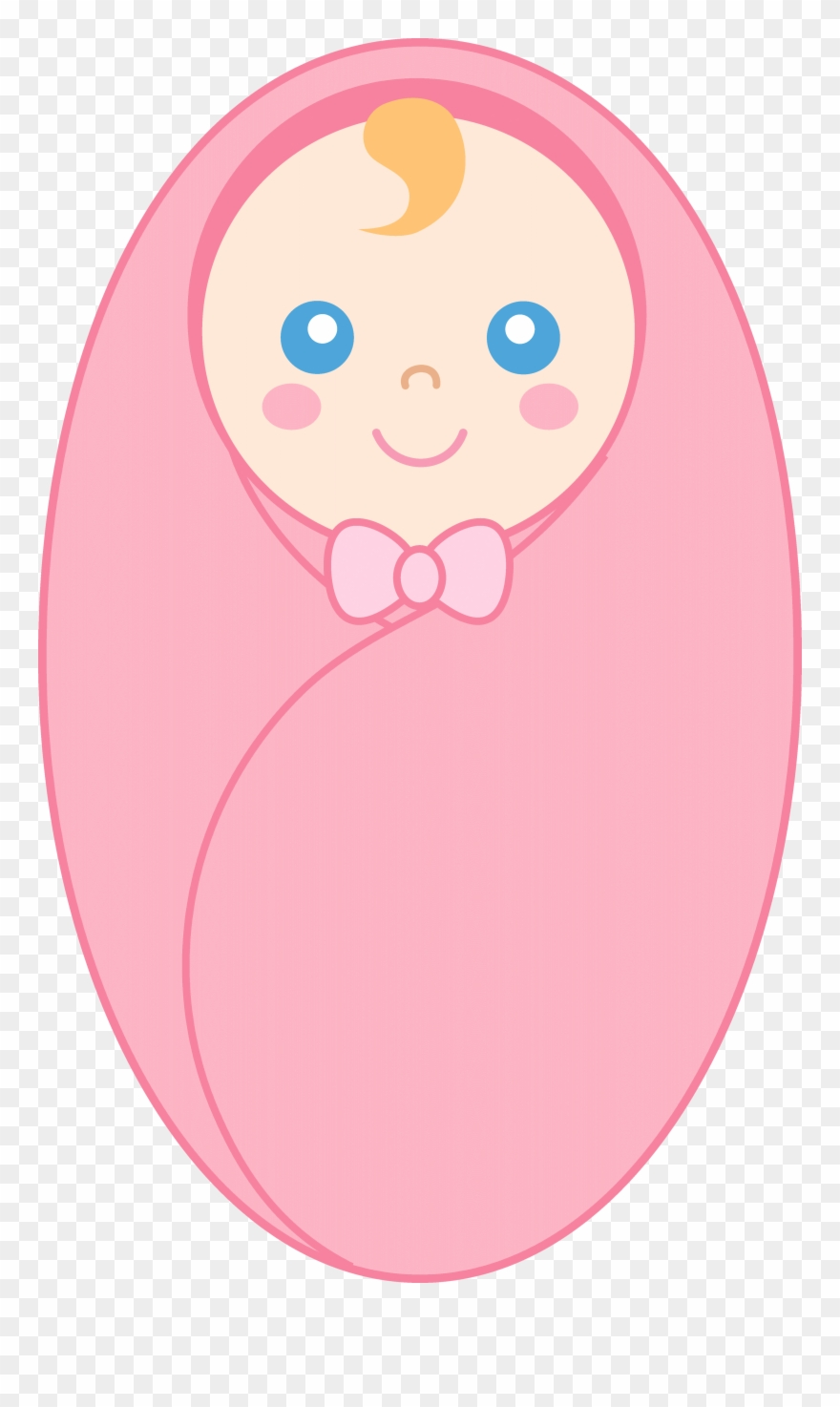Newborn Baby Clipart Image.