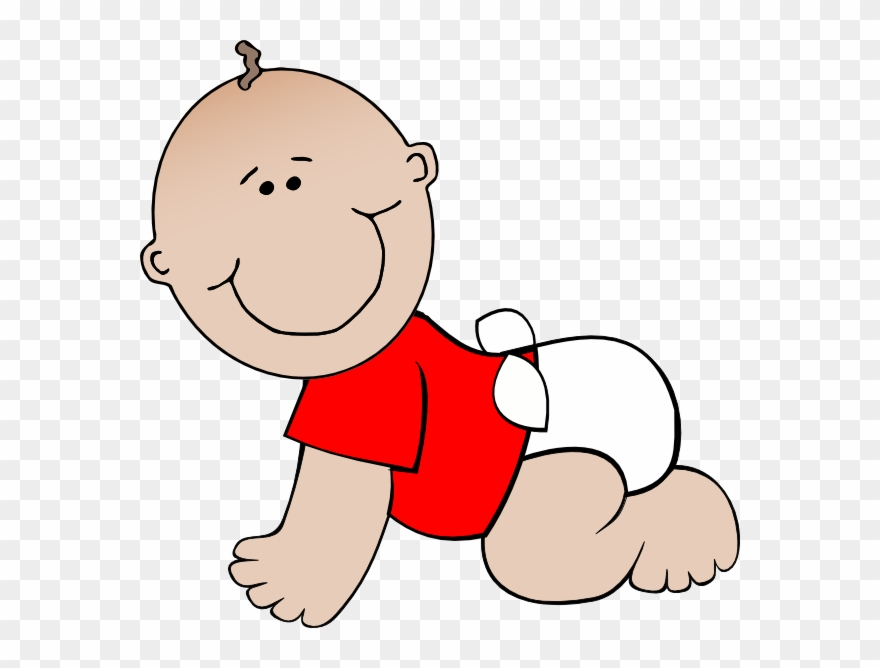 Crawling Baby Red Clip Art.