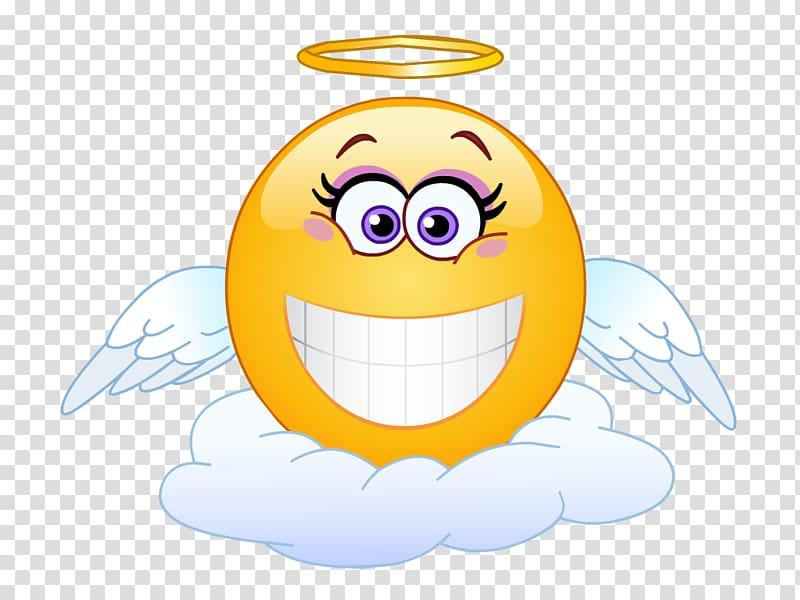 Emoticon Smiley Emoji , angel baby transparent background.