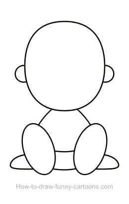 Baby drawing (Sketching + vector).