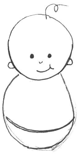 How to Draw Cartoon Baby with Easy Drawing Lesson for Kids.