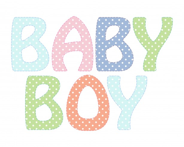 Baby Boy Text Clipart Free Stock Photo.