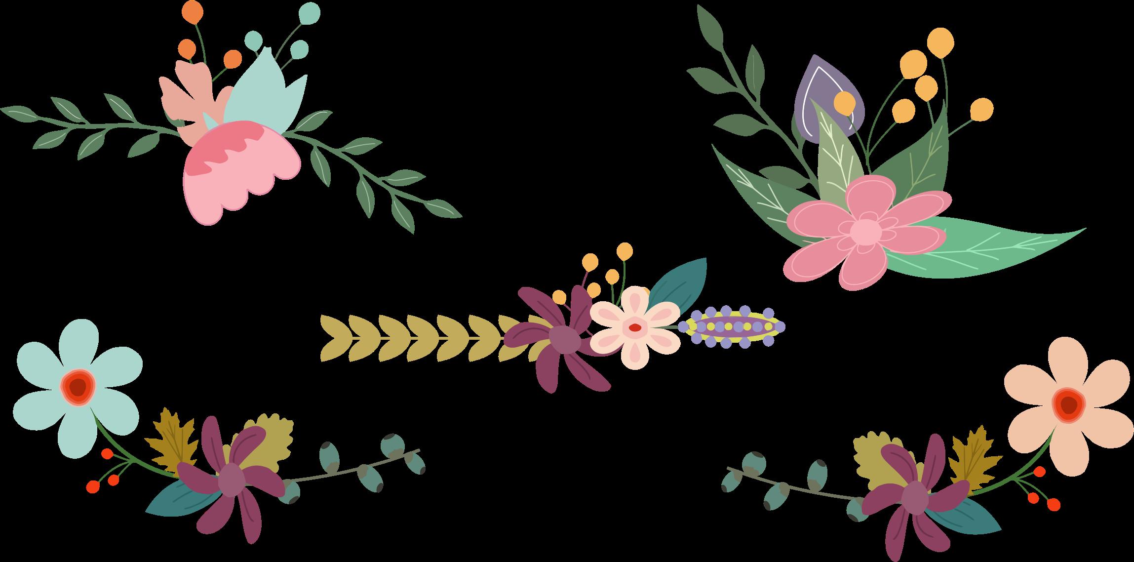 Vintage Flower Clipart Png.