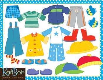 Dress for the Weather Kids and Clothes, Clip Art and Printables.