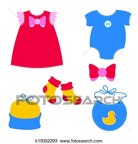 Baby clothing Clipart.