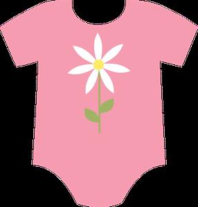 BABY GIRL ONESIE CLIP ART.