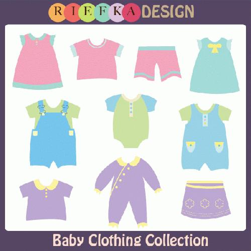 Boys Baby Clothes Clipart.