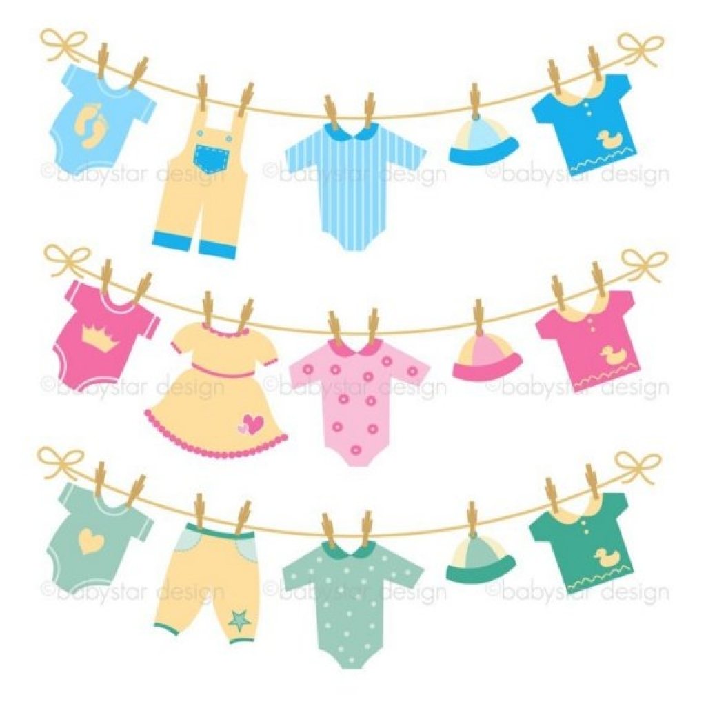 Clipart baby clothes.