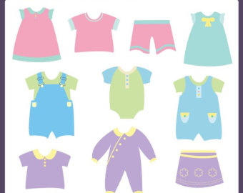 Baby Clothes Clipart.