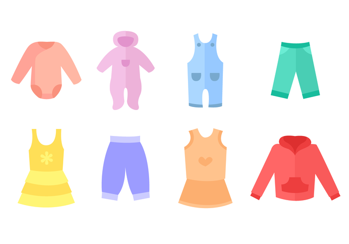 Free Baby Clothes Vector.