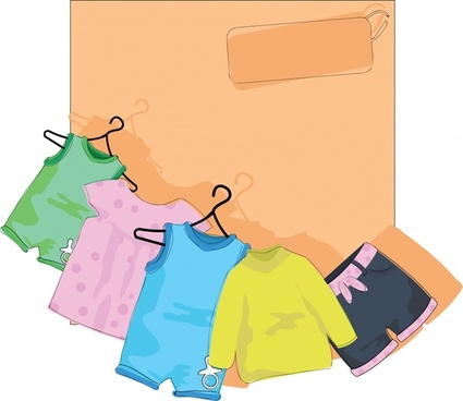 Vector cartoon children clothes drying Free vector in.