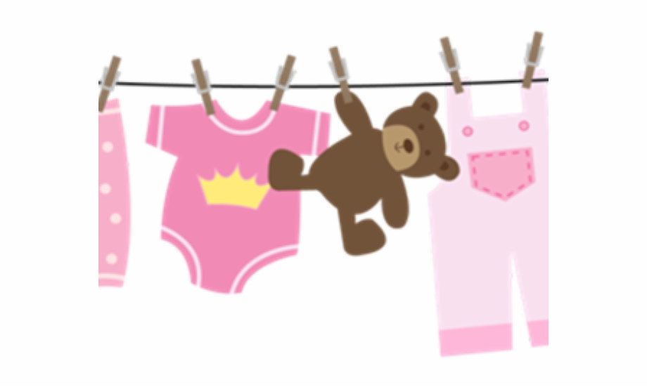 Baby Clipart Clothesline.