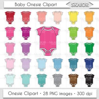 Baby Clothes Clipart Onesie Clipart Rainbow Nursery Baby Shower Clipart.