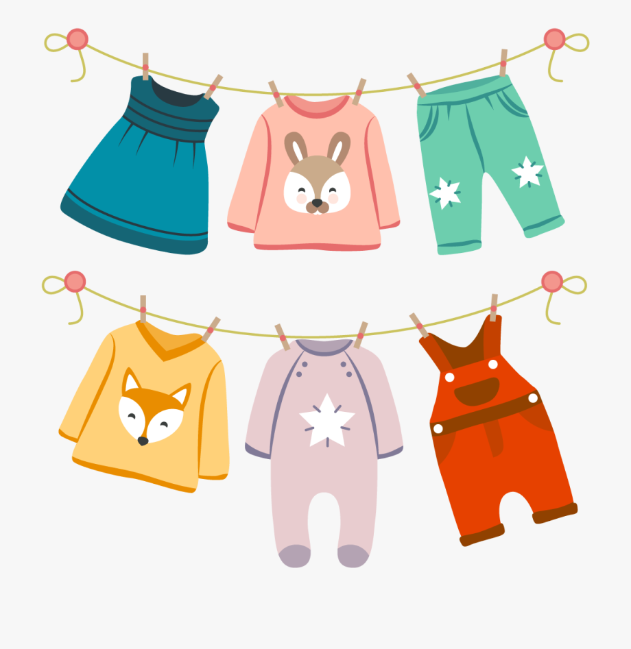 Infant Fashion Childrens Vector Baby Clothing Clothes.