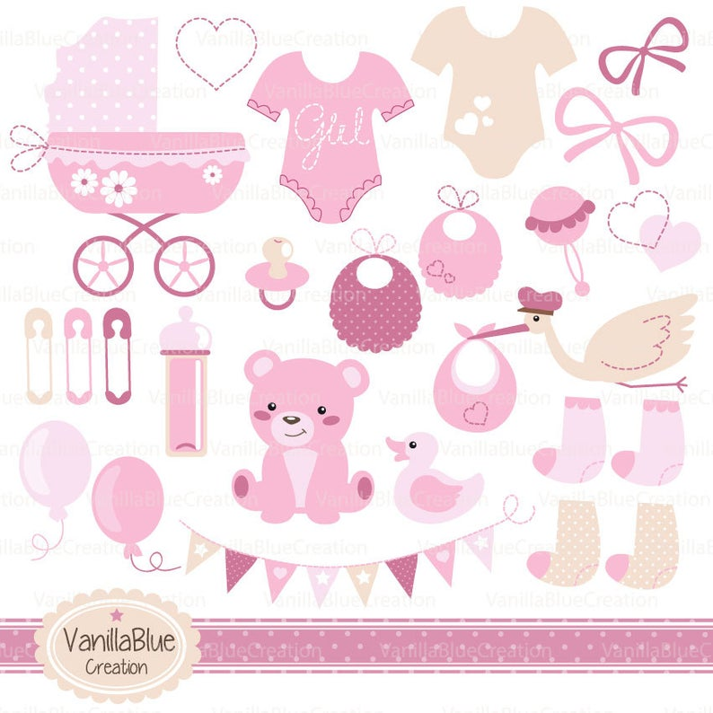 Clipart baby girl clothes, clipart baby girl, clipart birth, clipart baby  shower boy, baby clothes pink.