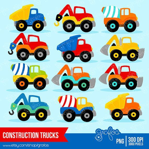 clipart of construction vehicles.
