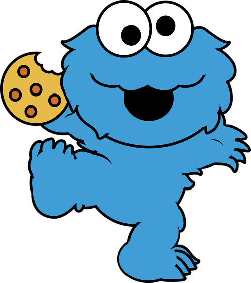 Elmo y cookie para colorear baby.