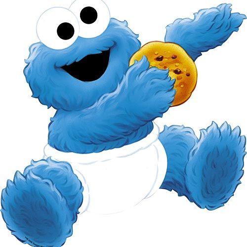 patron cookie monster fieltro.