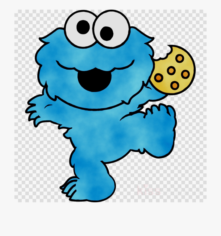 Baby Cookie Monster Clipart.