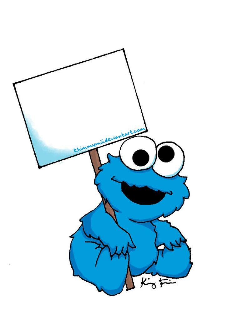 Cookie Monster Baby Clipart.