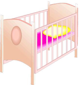 Baby Crib Clipart.