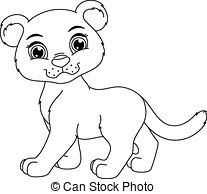 Cute baby cougar cartoon Clipart Vector Graphics. 45 Cute.