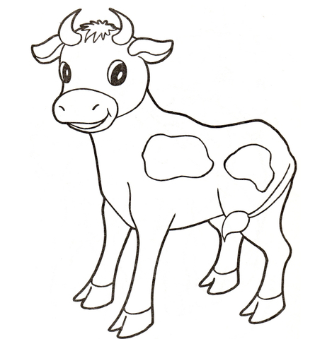 Download High Quality cow clipart black and white baby.