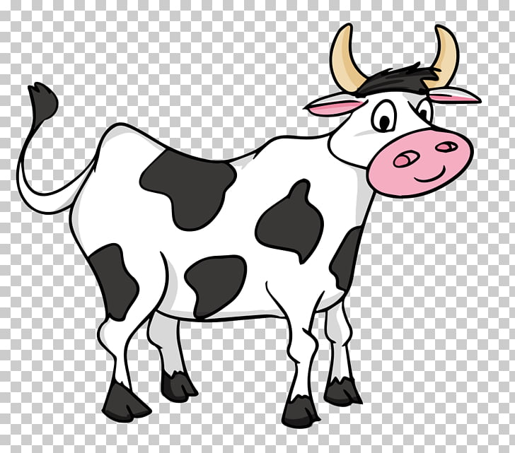 Cattle Livestock , Baby Cow s, animated white and black cow.