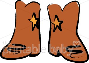 Western Boots Clipart.