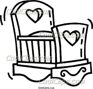 Baby cradle outline clipart clipart images gallery for free.