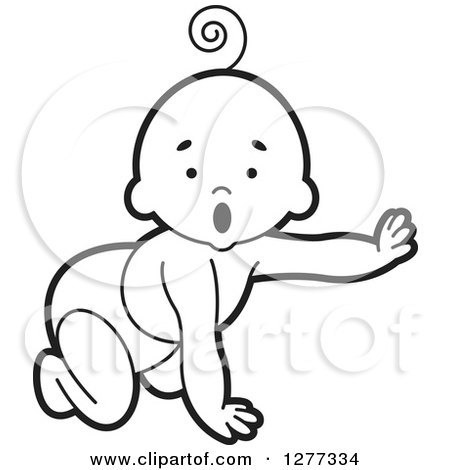 Baby crawling clipart black and white 3 » Clipart Portal.