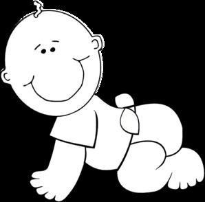 Crawling Baby Boy Outline Clip Art at Clker.com.