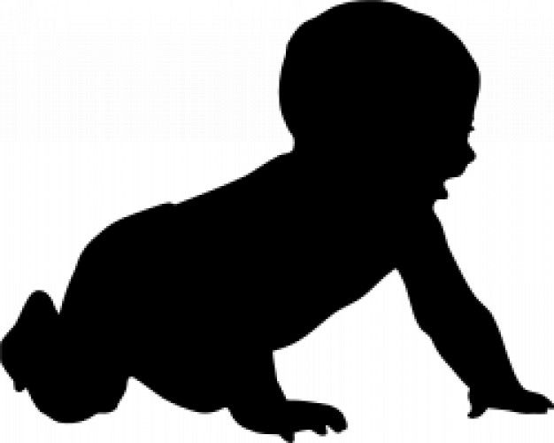 silhouettes+baby+crawling.