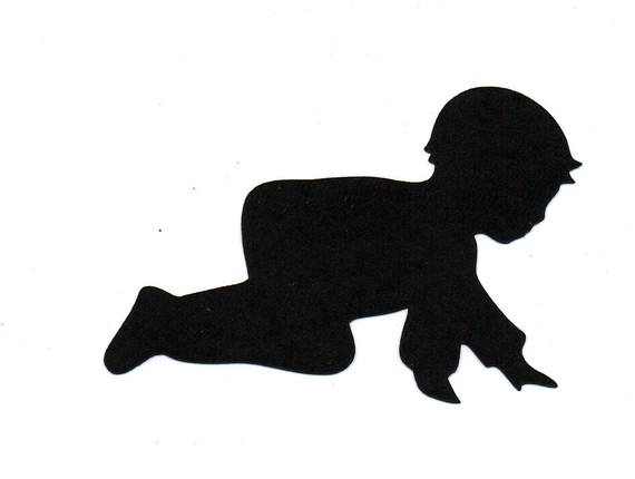 Child/baby crawling Silhouette die cut for by.