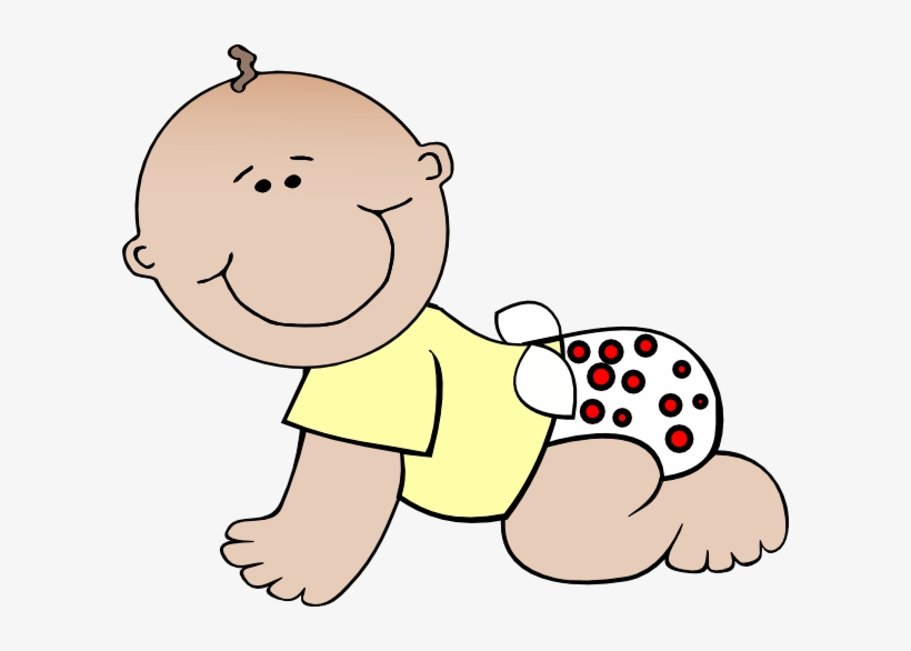 Baby Crawling Clipart.