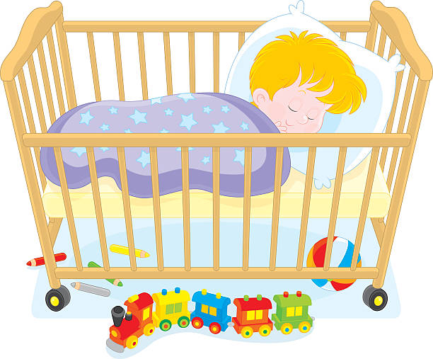 Best Baby Crib Illustrations, Royalty.